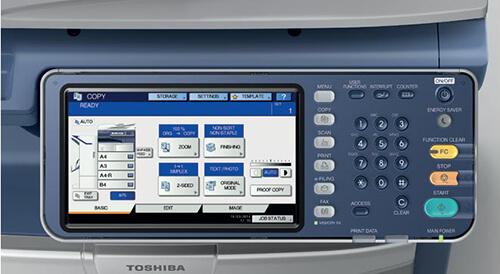 Màn hình máy photocopy Toshiba E-studio 257