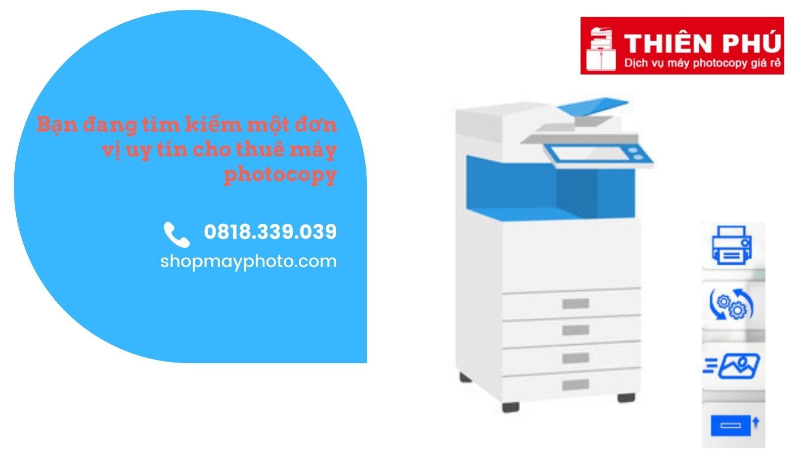 Dịch vụ cho thuê máy photocopy là gì?