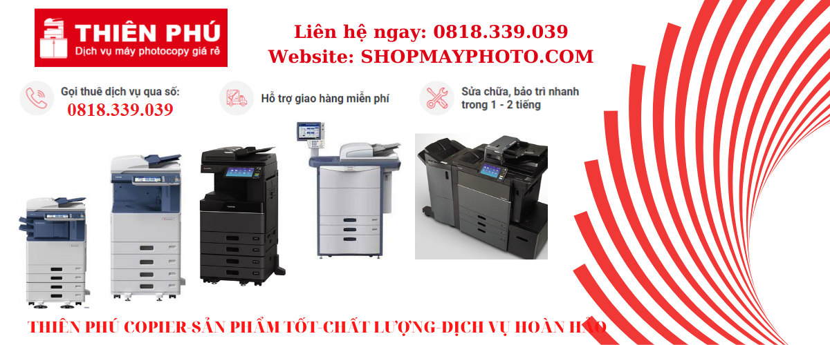 Top cho thuê máy photocopy /máy in laser màu A3 tại Bình Phước