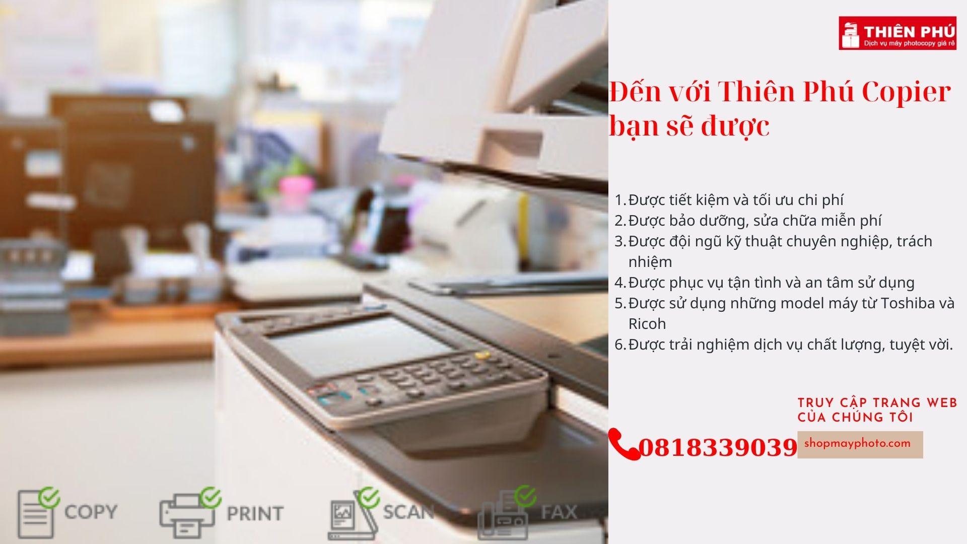 Tại sao bạn lại chọn dịch vụ cho thuê máy photocopy-Thiên Phú Copier