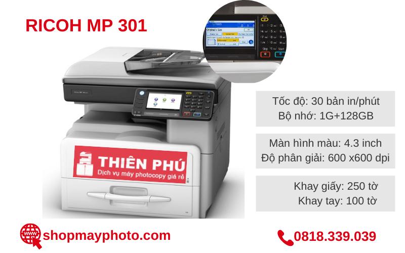 Bán trong mùa dịch máy photocopy Ricoh MP 301 giá rẻ