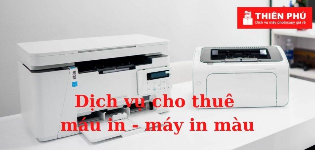 Dịch vụ cho thuê máy in - máy in màu giá rẻ của Thiên Phú Copier