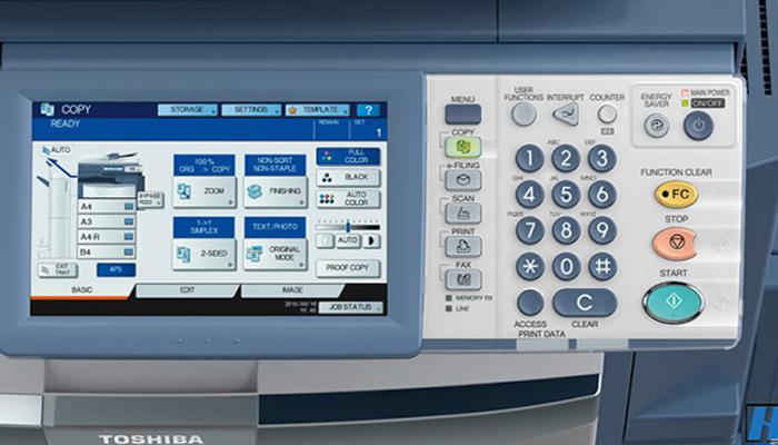 Cách scan tài liệu trên máy photo Toshiba